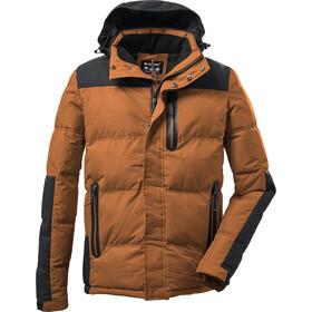 killtec KOW 152 Quilted Jacket Men, oranje/zwart